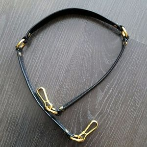 Coach black leather purse strap